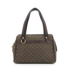 Louis Vuitton Josephine Handbag Mini Lin PM Green