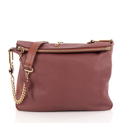 Chloe Vanessa Chain Shoulder Bag Leather Large Pink