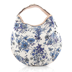 Gucci Wave Hobo Flora Canvas