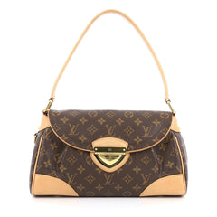 Louis Vuitton Beverly Handbag Monogram Canvas MM Brown