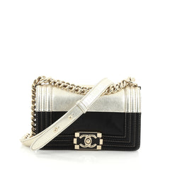 Chanel Boy Flap Bag Calfskin Small Gold