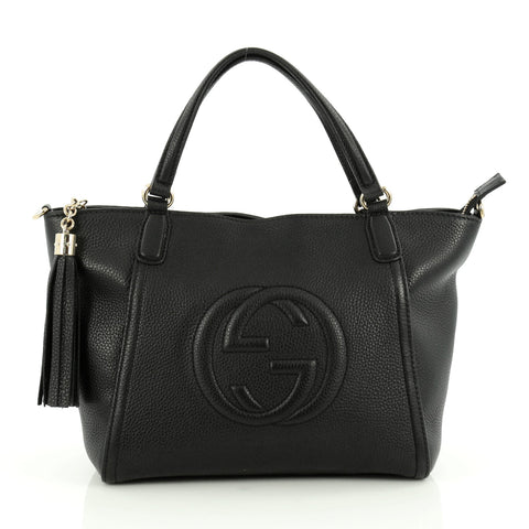 3e2fa2630d81 Buy Gucci Soho Convertible Top Handle Bag Leather Small 1710801 – Rebag