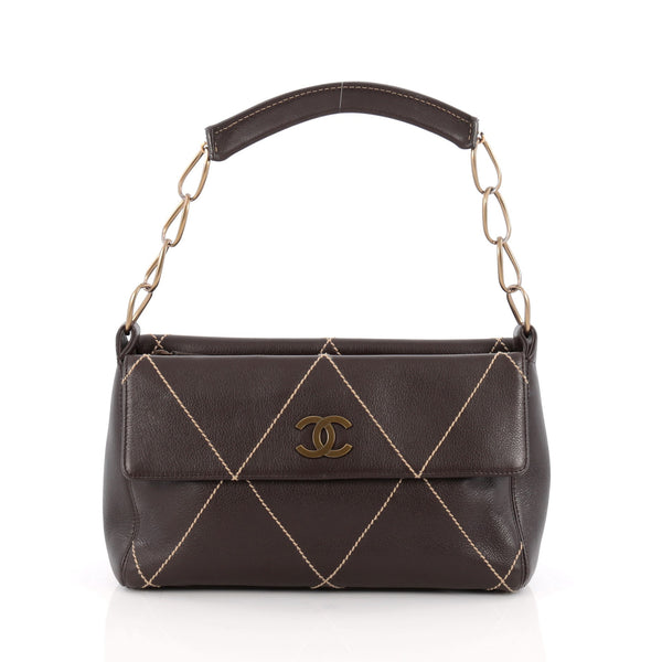 0adc031cbcd5 Buy Chanel Surpique Double Sided Shoulder Bag Quilted 1713201 – Rebag