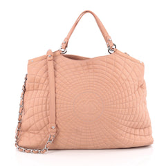 Chanel Spiral Sea Hit Tote Quilted Iridescent Calfskin Large pink