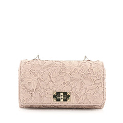 Valentino Girello Shoulder Bag Leather Lace Medium pink