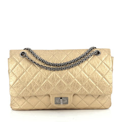 Chanel Reissue 2.55 Handbag Metallic Quilted Aged Calfskin 227 Gold