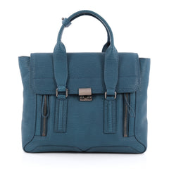 3.1 Phillip Lim Pashli Satchel Leather Large Blue