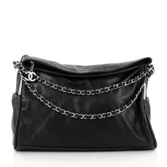 Chanel Ultimate Soft Hobo Leather Large Black