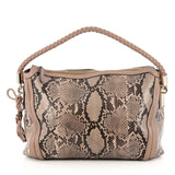 Gucci Bella Hobo Python Medium Brown