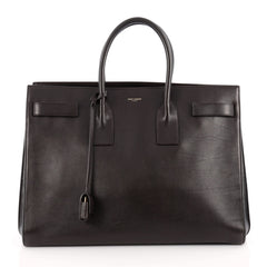 Saint Laurent Sac De Jour Handbag Leather Large Brown