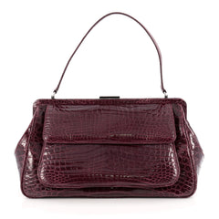 Tiffany & Co. Laurelton Handbag Crocodile Purple