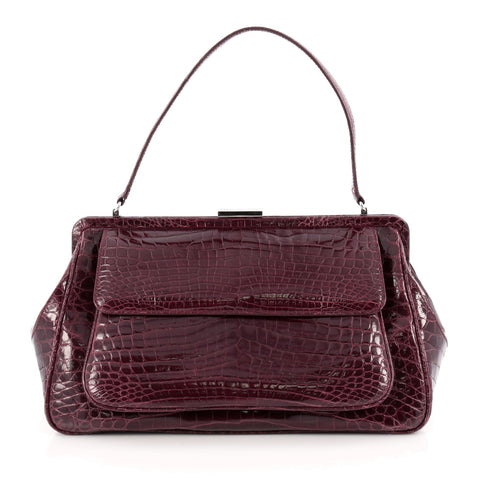 410b06a5e Buy Tiffany & Co. Laurelton Handbag Crocodile Purple 1730601 – Rebag