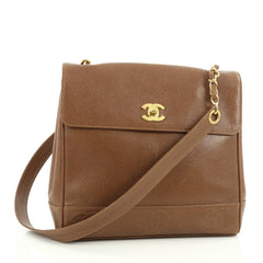 Chanel Vintage CC Top Flap Bag Caviar Brown