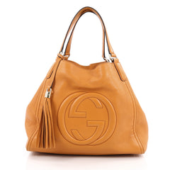Gucci Soho Shoulder Bag Leather Medium Orange