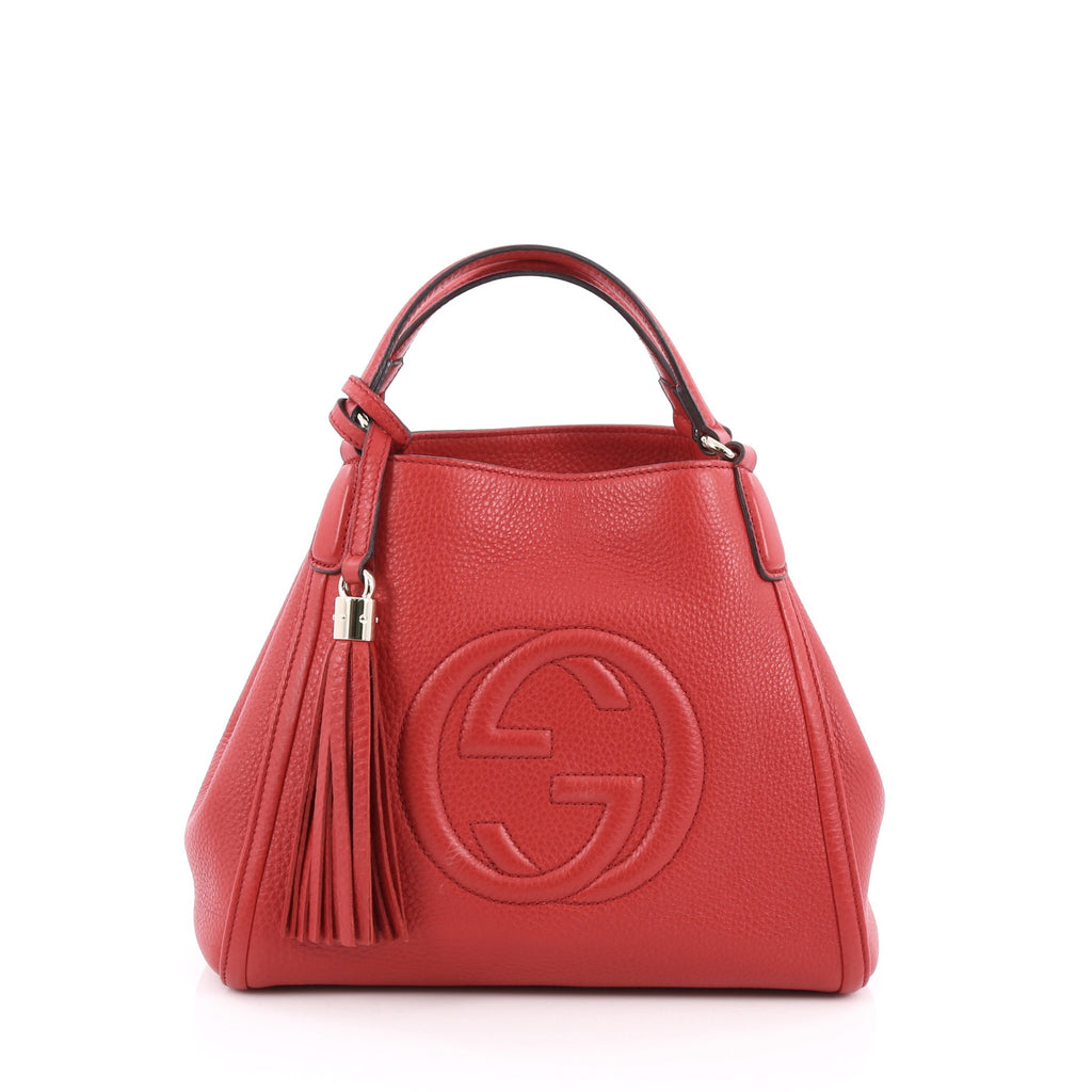 4e936d8ee3 Buy Gucci Soho Convertible Shoulder Bag Leather Small Red 1735401