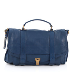 Proenza Schouler PS1 Satchel Leather Large Blue