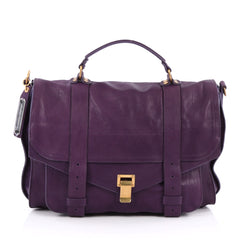 Proenza Schouler PS1 Satchel Leather Large purple