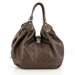 Louis Vuitton L Hobo Mahina Leather Brown