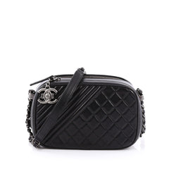 Chanel Coco Boy Camera Bag Quilted Leather Small Black