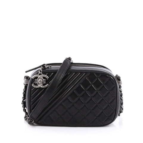 f07a3bdc2fd3 Buy Chanel Coco Boy Camera Bag Quilted Leather Small Black 1743701 – Rebag