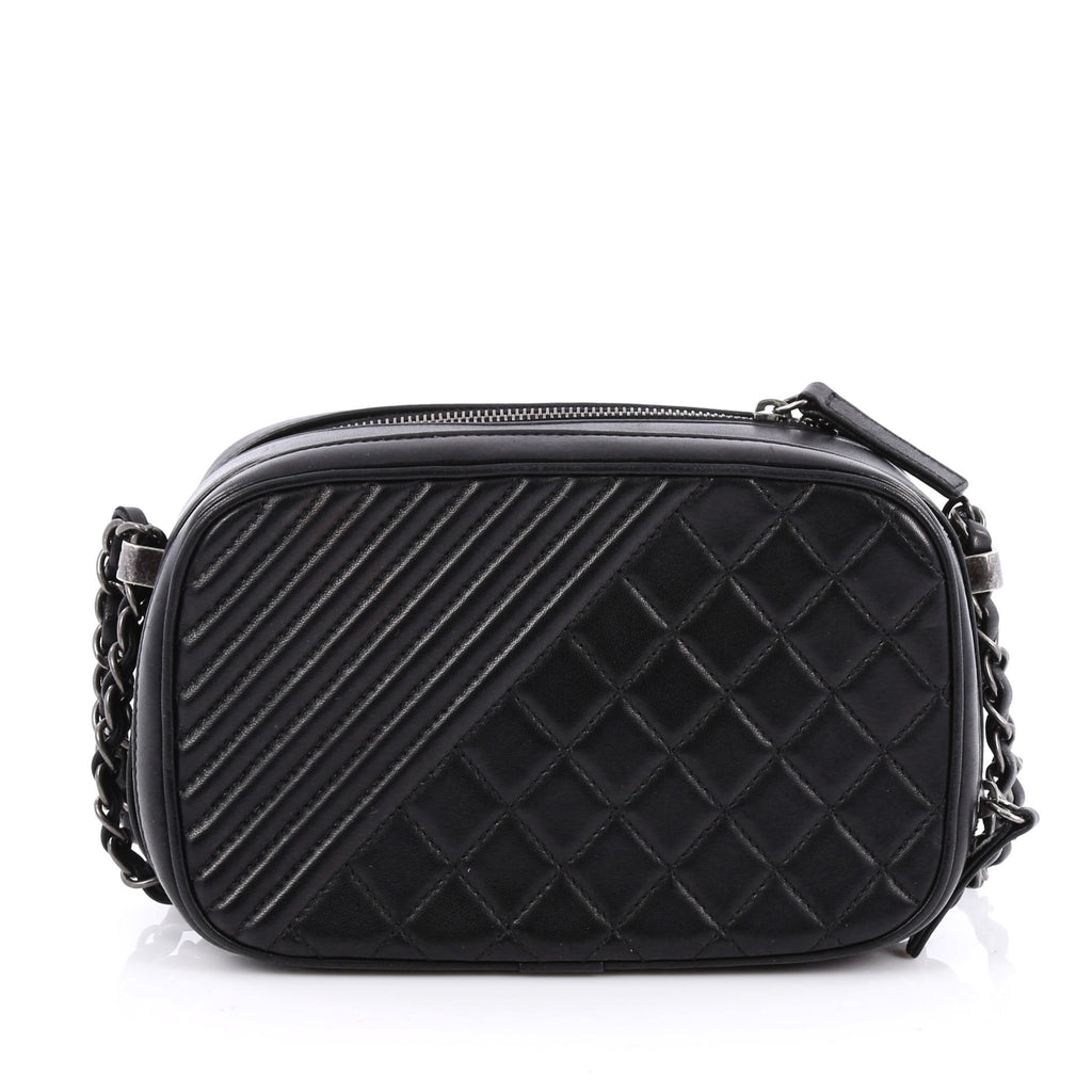8d5dc44cb518 Buy Chanel Coco Boy Camera Bag Quilted Leather Small Black 1743701 ...