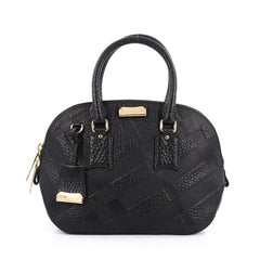 Burberry Orchard Bag Embossed Check Leather Small black