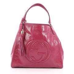 Gucci Soho Shoulder Bag Patent Medium Pink