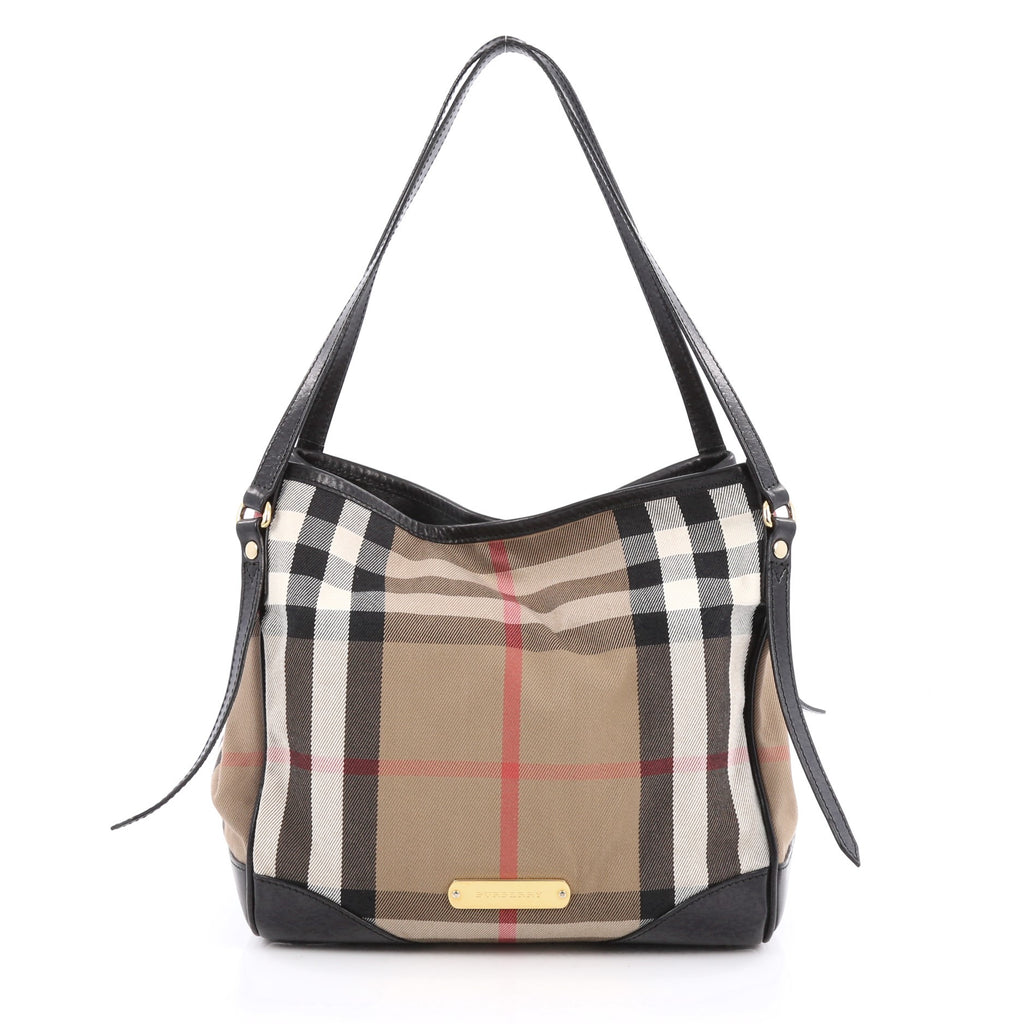 2dfb906ae5de Buy Burberry Canterbury Tote House Check Canvas Small Brown 1748601 ...