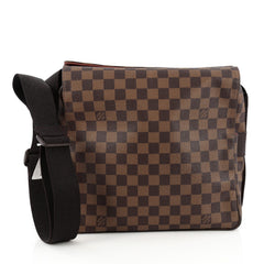 Louis Vuitton Naviglio Handbag Damier brown