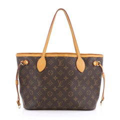 Louis Vuitton Neverfull Tote Monogram Canvas PM Brown