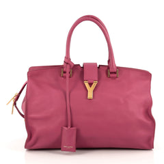 Saint Laurent Classic Y Cabas Leather Medium Pink 1751603