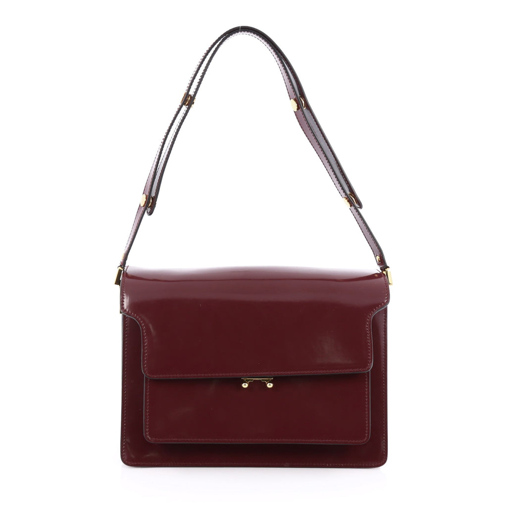 Buy Marni Trunk Accordion Bag Leather Large Red 1754801 - Trendlee