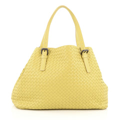 Bottega Veneta A-Shape Tote Intrecciato Nappa Large Yellow
