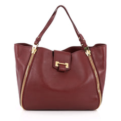 Tom Ford Sedgwick Zip Tote Leather Medium Red