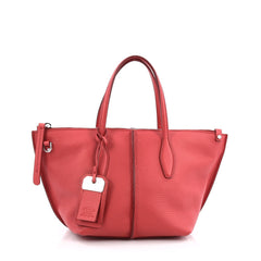 Tod's Joy Tote Leather Mini Red