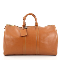Louis Vuitton Keepall Bag Epi Leather 45 Brown