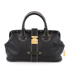 Louis Vuitton Suhali L'ingenieux Handbag Leather PM Black