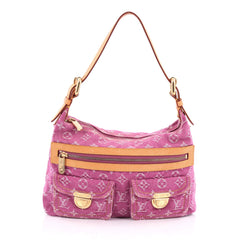 Louis Vuitton Baggy Handbag Denim PM Pink