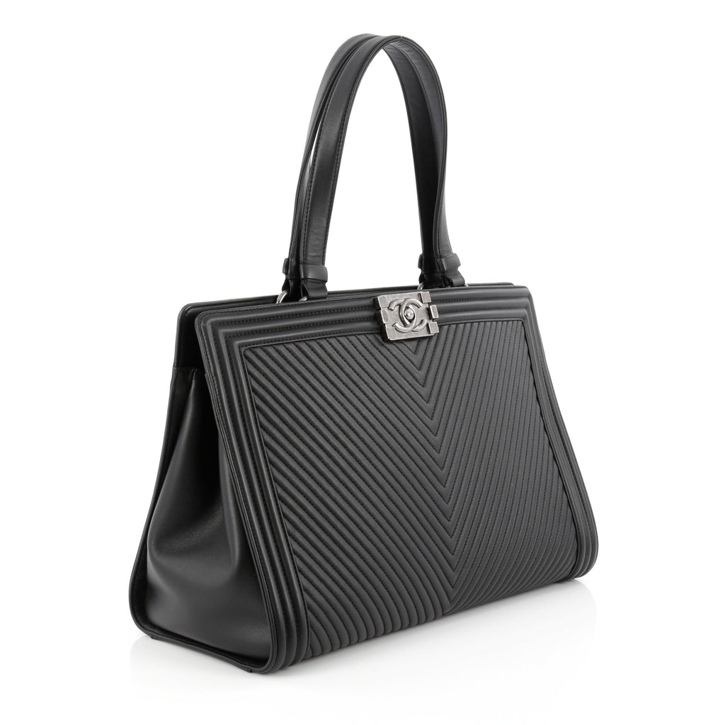 297a25b9f234 Large Calfskin Boy Chanel Shopping Bag | Stanford Center for ...
