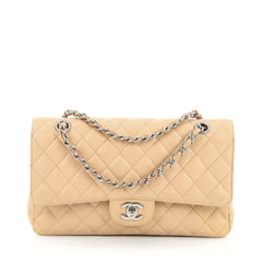 Chanel Classic Double Flap Bag Quilted Caviar Medium neutral