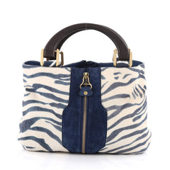 Jimmy Choo Maia Tote Pony Hair Medium Blue