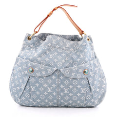 Louis Vuitton Daily Handbag Denim GM Blue