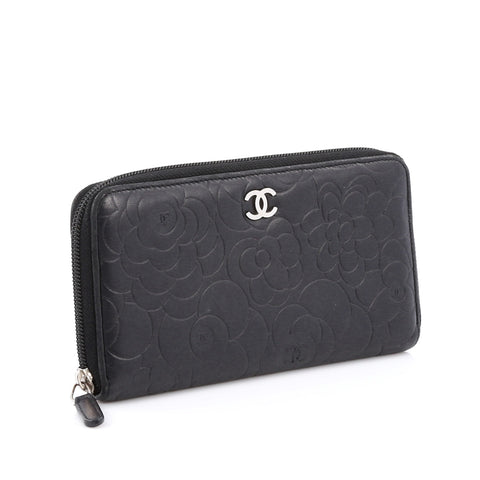 fd154baf Zip Around Wallet Camellia Lambskin