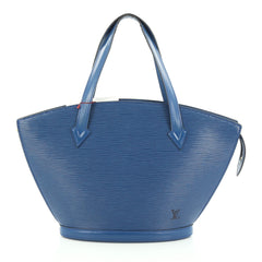 Louis Vuitton Saint Jacques Handbag Epi Leather PM blue