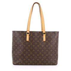 Louis Vuitton Luco Handbag Monogram Canvas Brown