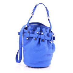 Alexander Wang Diego Bucket Bag Leather Small blue