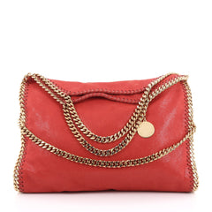 Stella McCartney Falabella Fold Over Bag Faux Leather Red