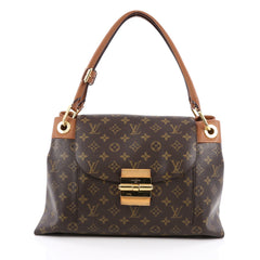 Louis Vuitton Olympe Handbag Monogram Canvas Brown