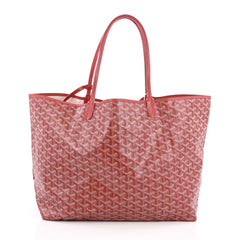 Goyard St. Louis Tote Coated Canvas GM Red 1777901