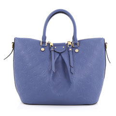 Louis Vuitton Mazarine Handbag Monogram Empreinte Blue 1778101